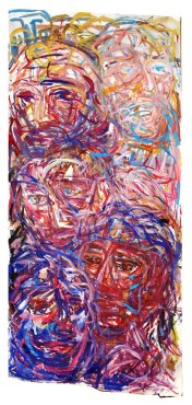 People of the World 240X120cm Gouache on paper $700