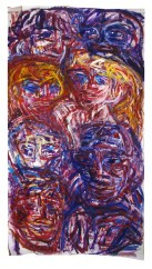 Seven People 240x150cm Gouache on paper $700