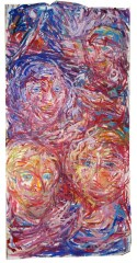 GROUP OF PEOPLE AT NIGHT 24OX120cm Gouache on paper $700