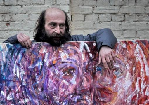 Dima With Painting