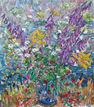 Flowers by the Shore 56x48 $3000