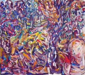 In a Forest 150x120 acrylic on canvas $1300